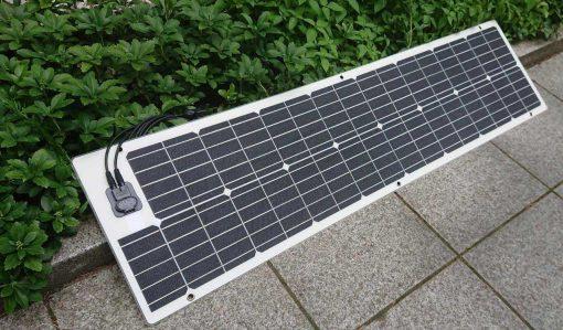 Besonders schmales, semiflexibles Solarmodul mit 90Wp