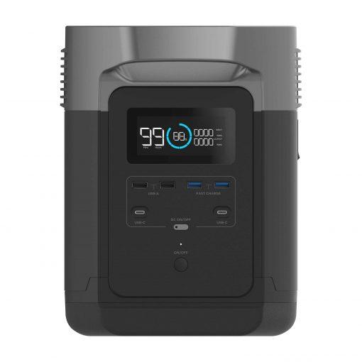 Powerstation Ecoflow Delta 1300 LED Anzeige